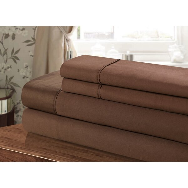 300 Thread Count 100% Egyptian-Quality Cotton Sheet Set by Chic Home